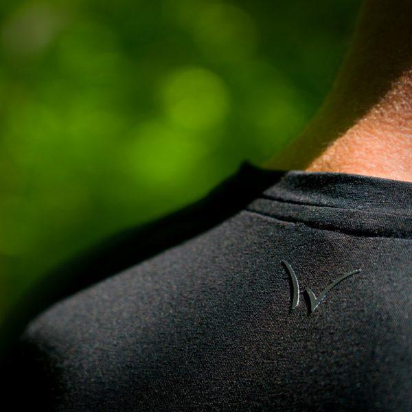 weald T-shirt homme lin noir sport outdoor